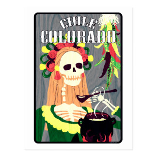 chile colorado (cool scheme) postcard