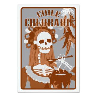 chile colorado : orange burn 9 cm x 13 cm invitation card