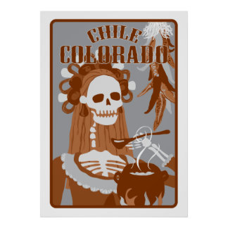 chile colorado : orange burn poster