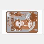 chile colorado : orange burn rectangular sticker