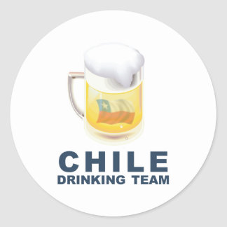 Chile Drinking Team Classic Round Sticker