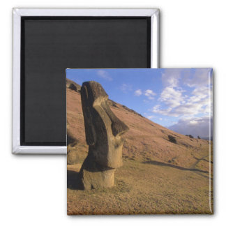 Chile, Easter Island. Hillside with Moai Magnet