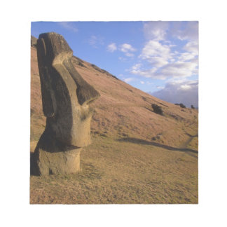 Chile, Easter Island. Hillside with Moai Notepad
