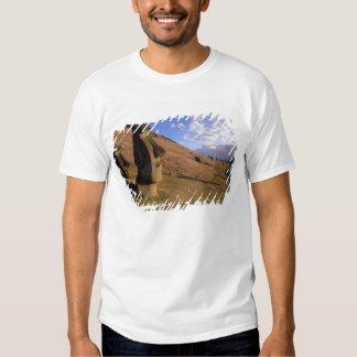 Chile, Easter Island. Hillside with Moai Tshirt