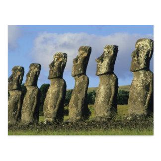 Chile Easter Island Rapa Nui Ahu Akivi Postcard