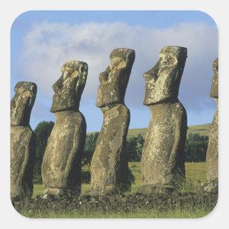 Chile, Easter Island, Rapa Nui, Ahu Akivi Square Sticker