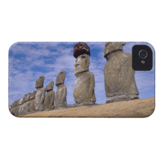 Chile, Easter Island. The 15 Moais at Ahu iPhone 4 Cases