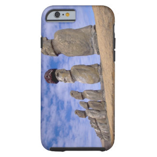 Chile, Easter Island. The 15 Moais at Ahu Tough iPhone 6 Case