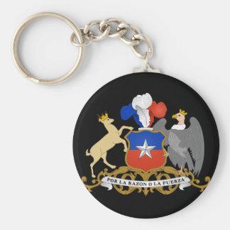 chile emblem basic round button key ring