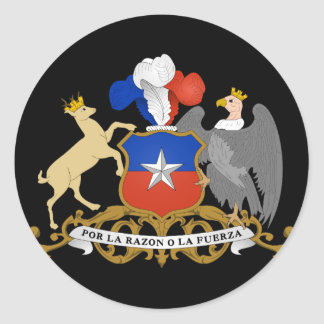 chile emblem classic round sticker