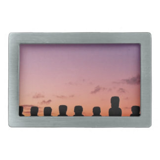 Chile Figures In The Sunset Rectangular Belt Buckle