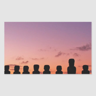 Chile Figures In The Sunset Rectangular Sticker