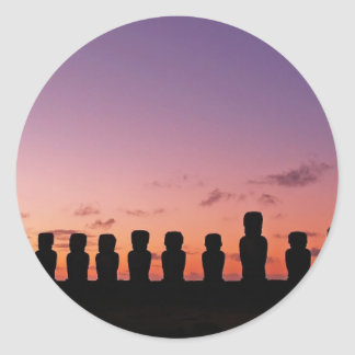 Chile Figures In The Sunset Round Sticker