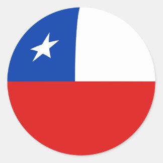 Chile Fisheye Flag Sticker