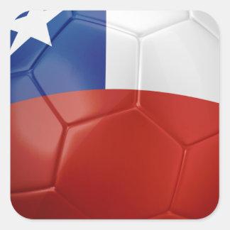 Chile Flag Ball Square Sticker