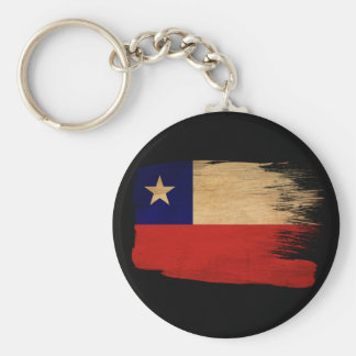 Chile Flag Basic Round Button Key Ring