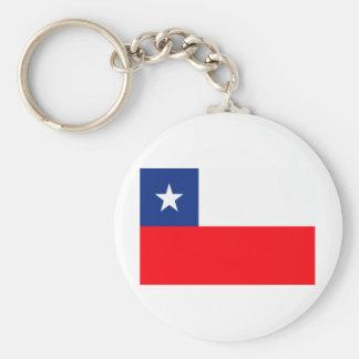 Chile flag basic round button key ring