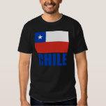 Chile Flag Blue Text Shirts