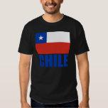 Chile Flag Blue Text Shirts