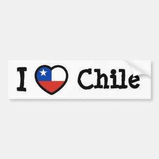 Chile Flag Bumper Sticker