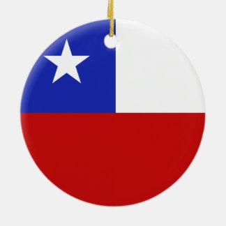 Chile Flag Christmas Ornament
