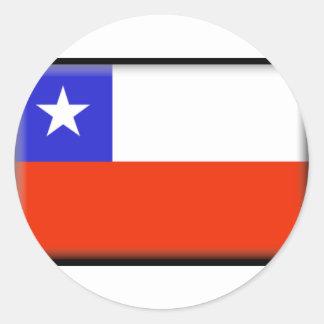 Chile Flag Classic Round Sticker
