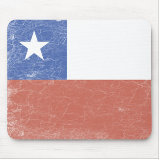 Chile Flag distressed Mouse Mat