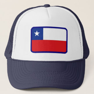 Chile flag embroidered effect hat