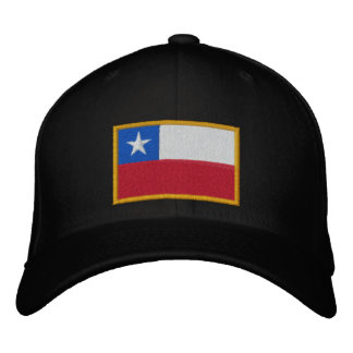 Chile Flag Embroidered Hat