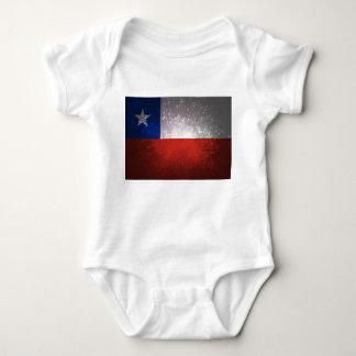 Chile Flag Firework Baby Bodysuit