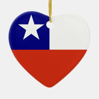 Chile Flag Heart Christmas Ornament