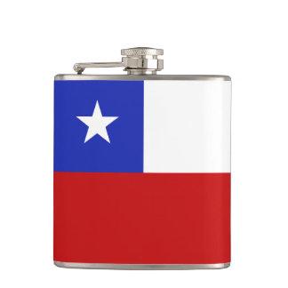 Chile Flag Hip Flask