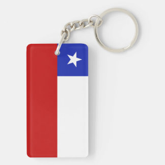 Chile Flag Acrylic Key Chains