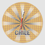 Chile Flag Map 2.0 Round Stickers