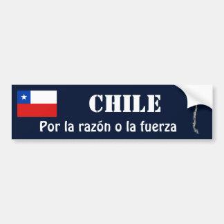 Chile Flag + Map Bumper Sticker