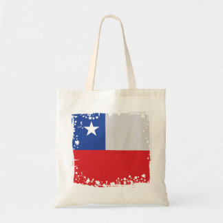 Chile Flag on a bag, Simple Chilean Colors Tote Bag