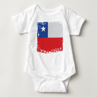 Chile Flag, on Baby Cloth, Chile Colors Baby Bodysuit
