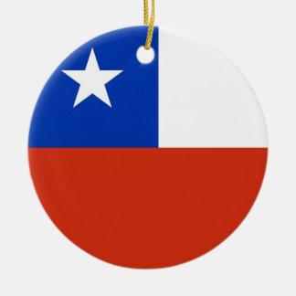 Chile Flag Plain Christmas Ornament