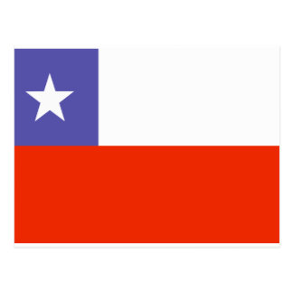 Chile Flag Postcard