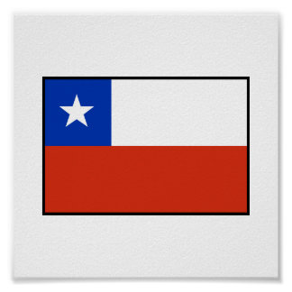 Chile Flag Poster