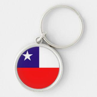 Chile flag premium keychain