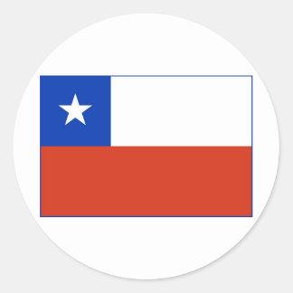 Chile Flag Round Sticker