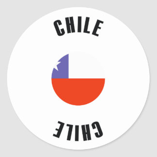 Chile Flag Simple Classic Round Sticker
