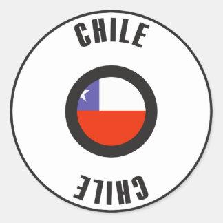 Chile Flag Simple Round Sticker