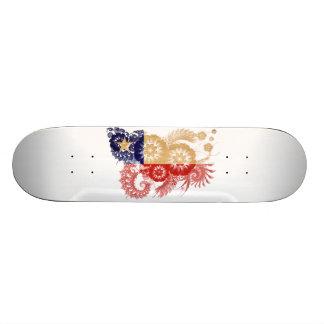 Chile Flag Skate Board