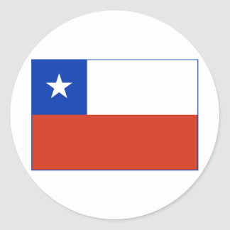 Chile Flag Round Stickers