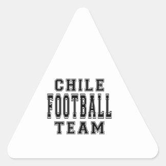 Chile Football Team Triangle Sticker