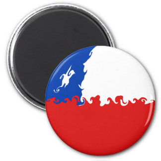 Chile Gnarly Flag 6 Cm Round Magnet