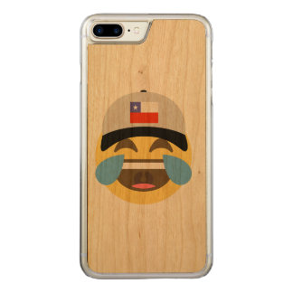 Chile Hat Laughing Emoji Carved iPhone 7 Plus Case