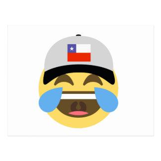 Chile Hat Laughing Emoji Postcard
